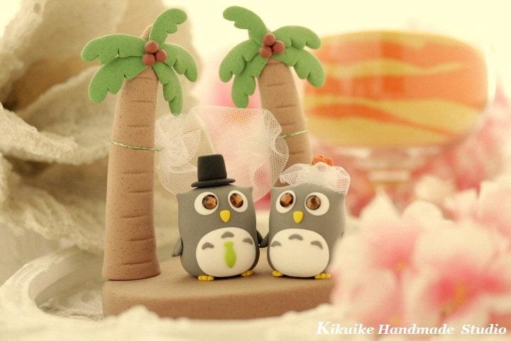 Owl And Penguins , Palm Tree And Hammock Cake Topper ---k533 ...