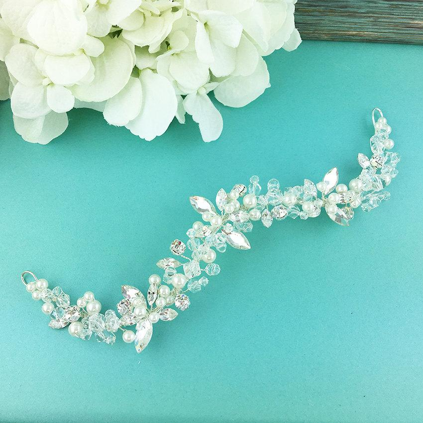 Wedding - Wedding hair vine, Rhinestone bridal flexible hair vine, Crystal Vine Comb, bridal hair accessories, wedding hair accessories, 274522892
