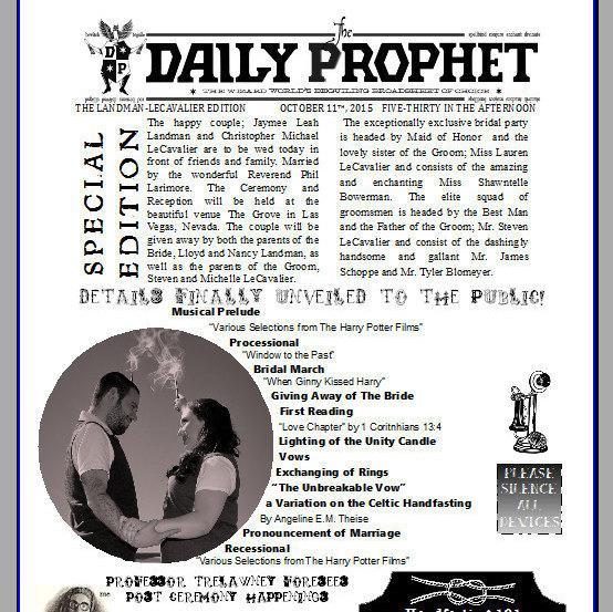 Hochzeit - Daily Prophet Wedding Program
