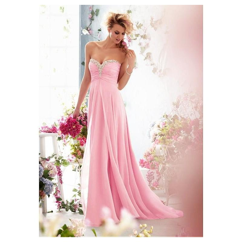 Wedding - Gorgeous Chiffon Sweetheart Neckline Raised Waistline A-line Wedding Dress - overpinks.com