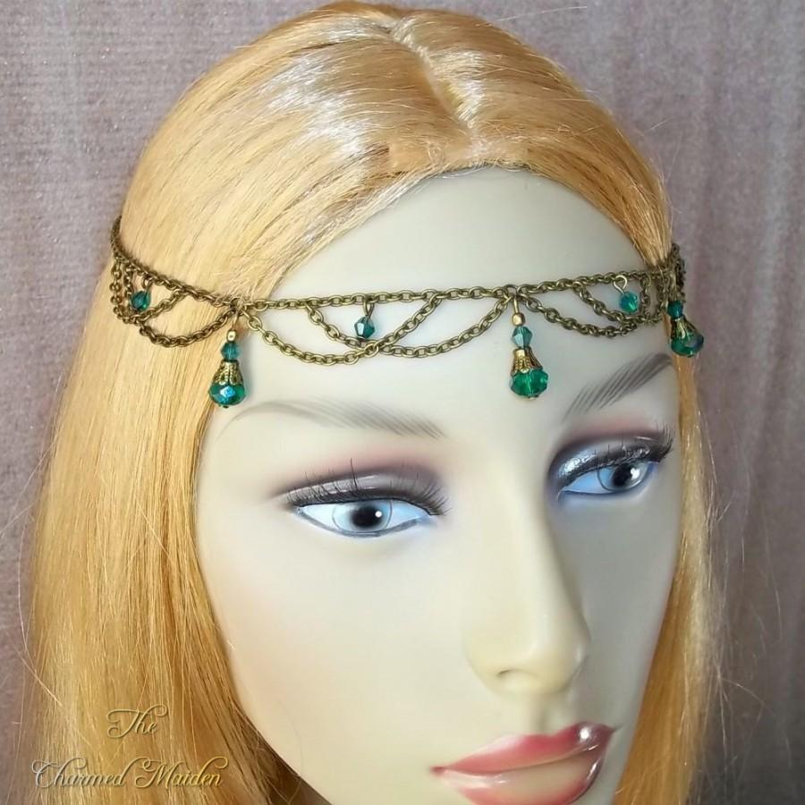 Свадьба - Renaissance Circlet, Bronze Head Chain, Reanaissance Head Chain, Medieval Headdress, Hair Chain, Boho Princess, Fairy, Pagan, Larp Cosplay
