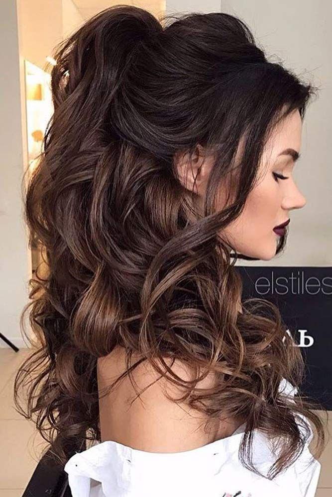 Свадьба - Chic Half Up Bridesmaid Hairstyles