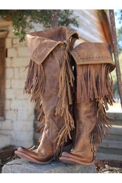 زفاف - PRE-ORDER: Liberty Black Fringe Cowgirl Boots