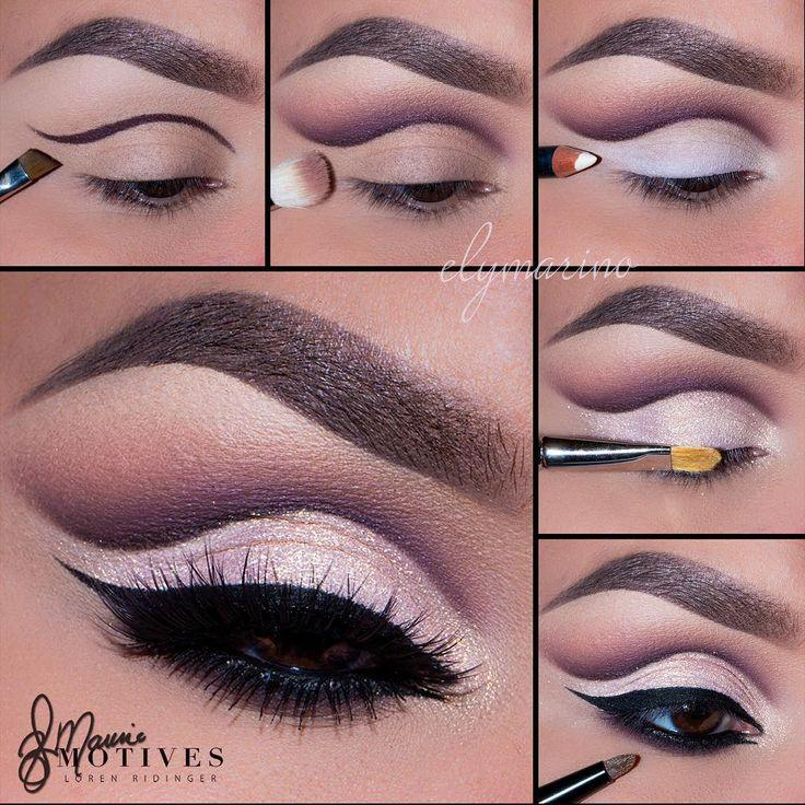 "Свадьба - Motives Cosmetics On Instagram: ""Gorgeous Cut Crease By  @elymarino Using All Motives! STEPS: 1.Begin By Using"