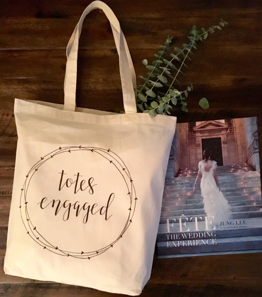 totes engaged tote bag bride gift bride to be engagement present bridal shower gift