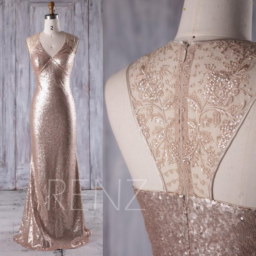 2017 tan sequin bridesmaid dress v neck halter wedding for Slimming undergarments for wedding dress