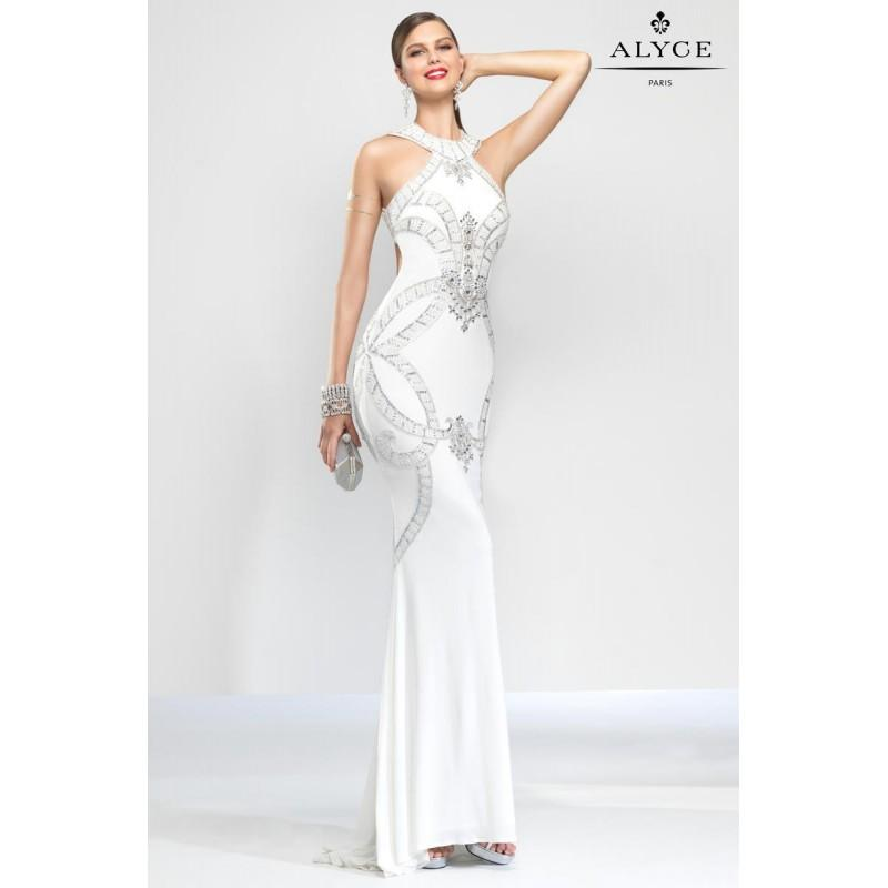 Hochzeit - Diamond White Claudine for Alyce Prom 2572 Claudine for Alyce Paris - Top Design Dress Online Shop