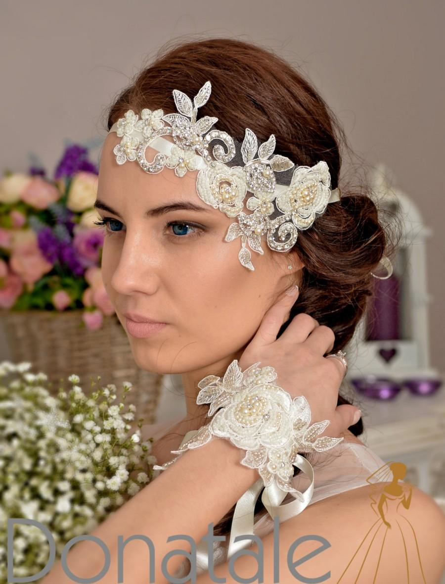 زفاف - Wedding headband,  Wedding hair piece ,   Bridal headpiece,  Wedding headpiece , Bridal headband- DIVA