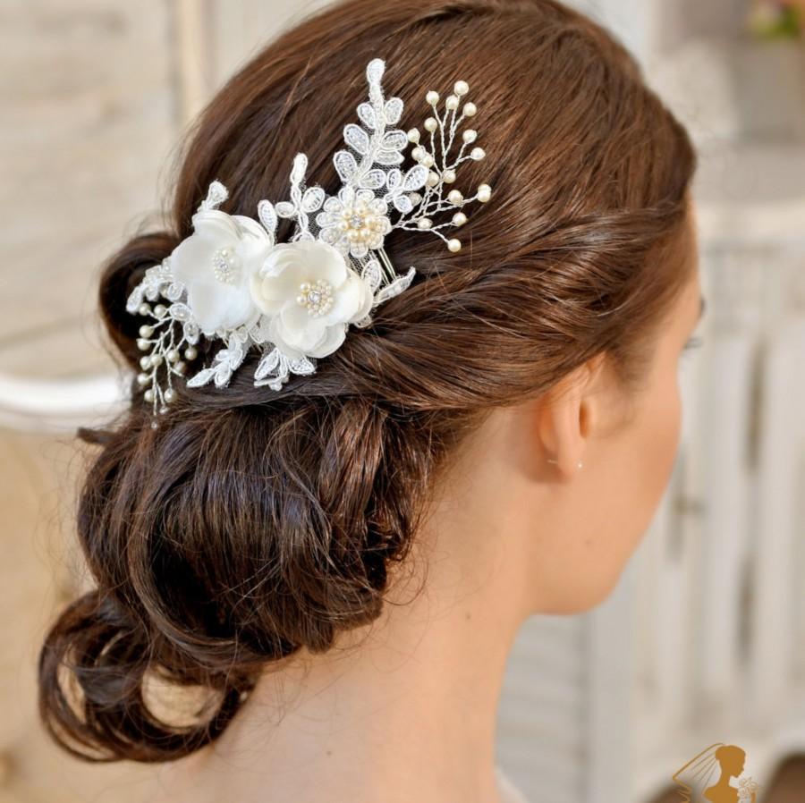 زفاف - Wedding Hair comb Bridal Headpiece Wedding Headpiece  Fascinate Bridal  Hair Piece Flower Headpiece Wedding Hair Flower - AMÉLIE