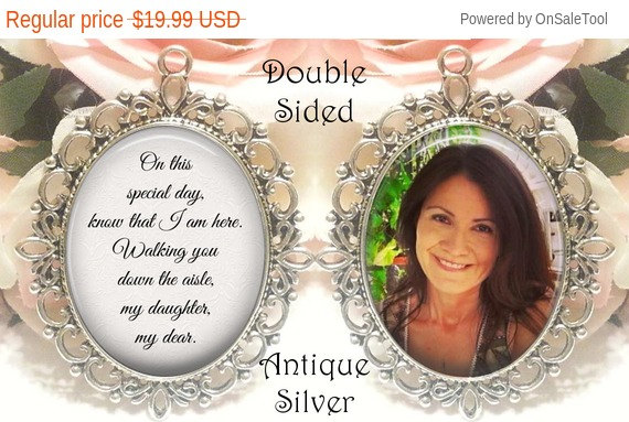 Свадьба - Valentine's Day Sale, Save 10% Double-Sided Memorial Bouquet Charm - Personalized with Photo - On this special day know that I am here