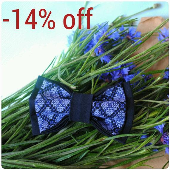 Wedding - Wedding navy bow tie Wedding navy necktie for groom Navy blue wedding gift Wedding favors Wedding nautical bowtie wedding blue wedding ties