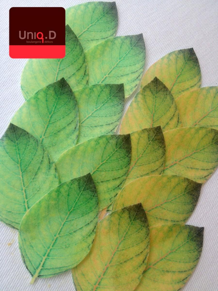 Свадьба - 50 edible leaves green emerald leaves - edible cupcake decoration -  green precut cake decoration by Uniqdots on Etsy