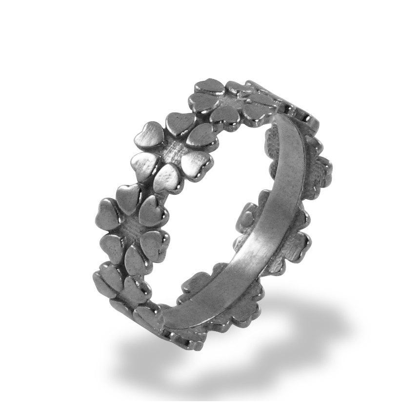 زفاف - Wedding Band , Flower Wedding Ring , White Gold , Statement Ring , Hearts Flowers , Women's Wedding Band , Wedding Ring , Promise Ring ,
