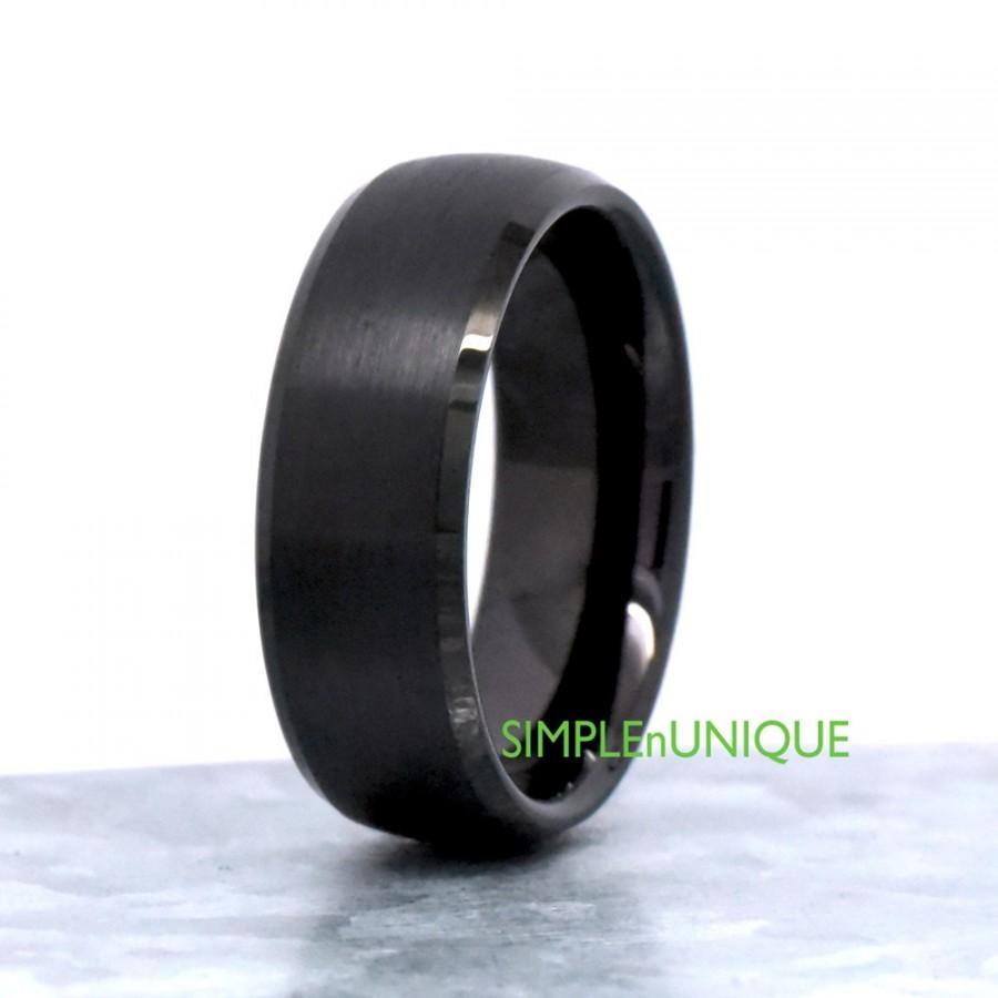 Свадьба - Marriage Band, Mens Ring, Mens Wedding Ring, Male Wedding Band, Ring for Men, Wedding Band Ring, Mens Black Tungsten Wedding Band