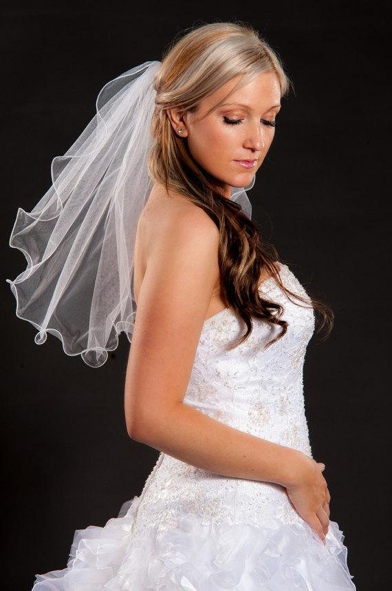 زفاف - 1 Layer Shoulder Length Veil
