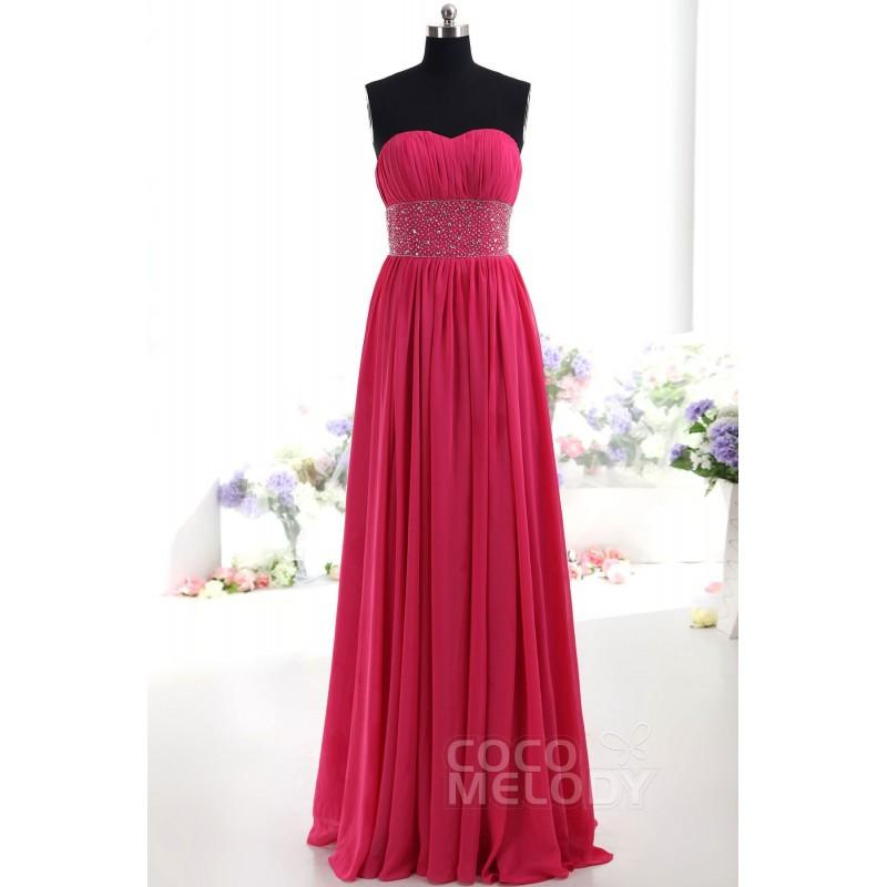 Свадьба - Sheath-Column Sweetheart Natural Floor Length Chiffon Sleeveless Bridesmaid Dress PR2129 - Top Designer Wedding Online-Shop
