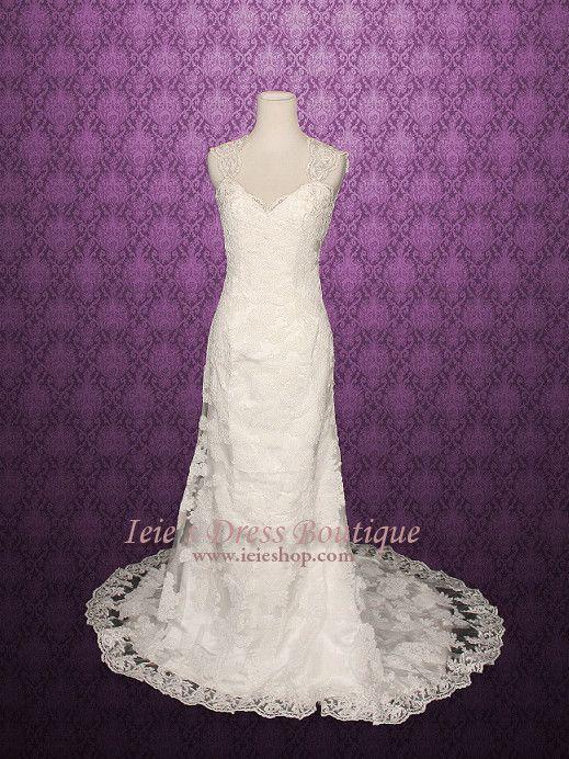Mariage - Lace Wedding Dress With Keyhole Back