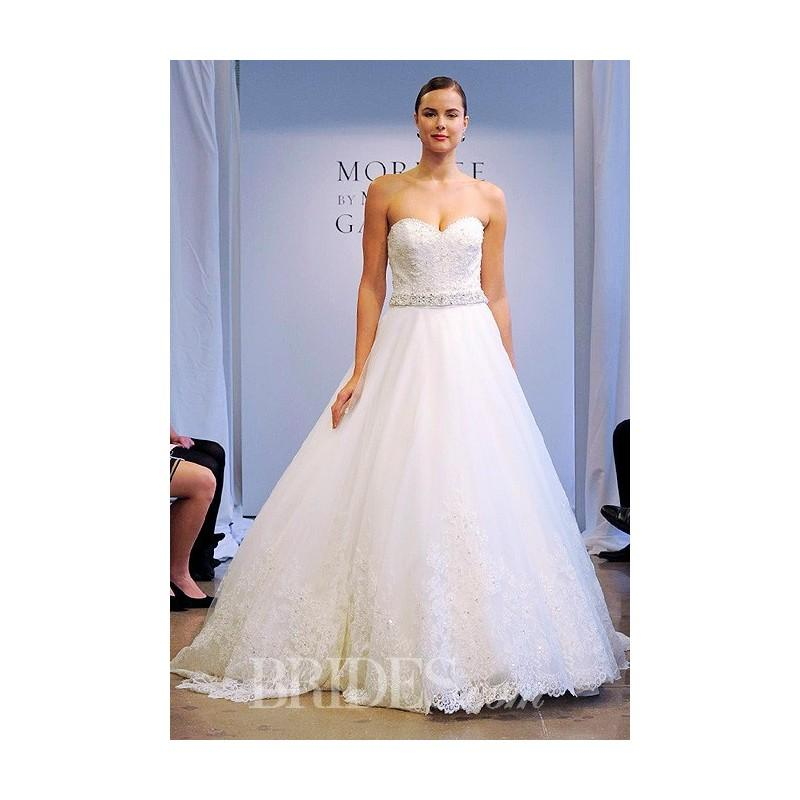 047a634a99 Mori Lee - Fall 2014 - Style 2621 Strapless Lace and Tulle A-Line Wedding  Dress - Stunning Cheap Wedding Dresses