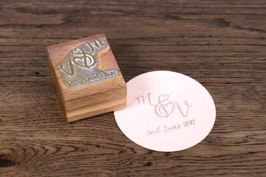 Personalized Rubber Stamps For Wedding Invitations: Personalised Wedding Monogram Stamp