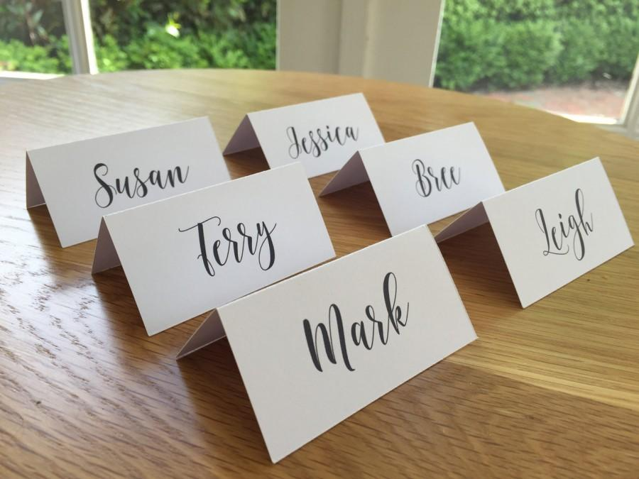 Wedding place cards escort cards wedding name cards for Place card for wedding