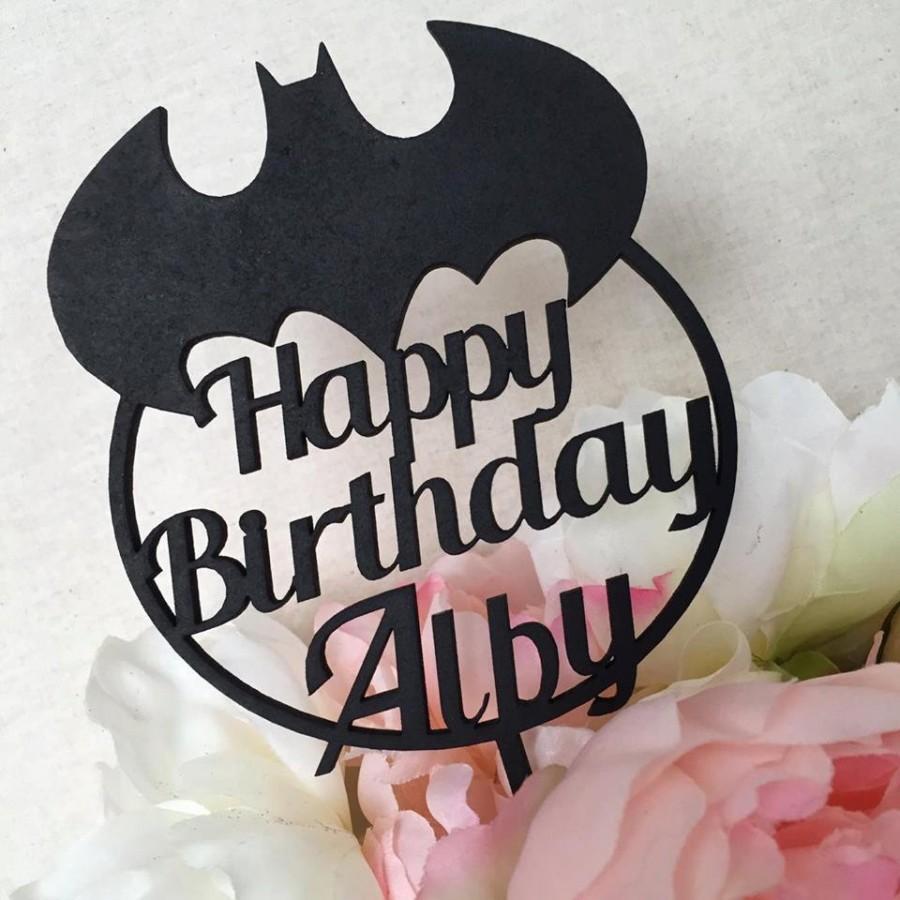 Batman Cake Topper Personalised Birthday Decoration Superhero Party