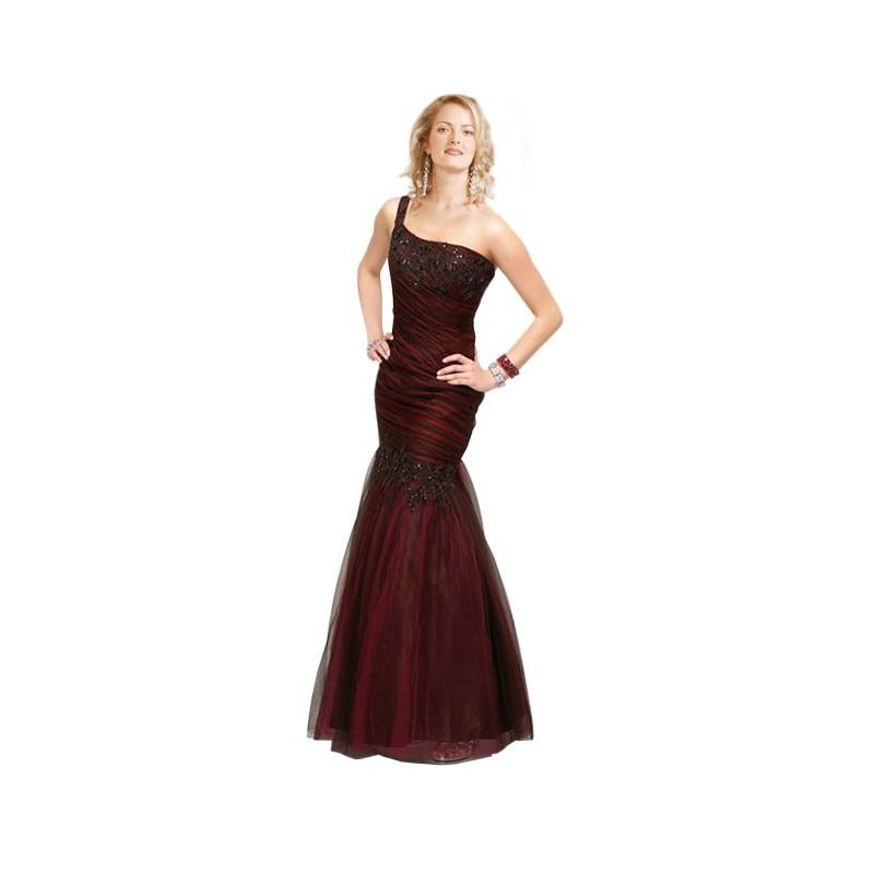 Mariage - One-shoulder organza evening dress (EVD-1000) - Crazy Sale Formal Dresses