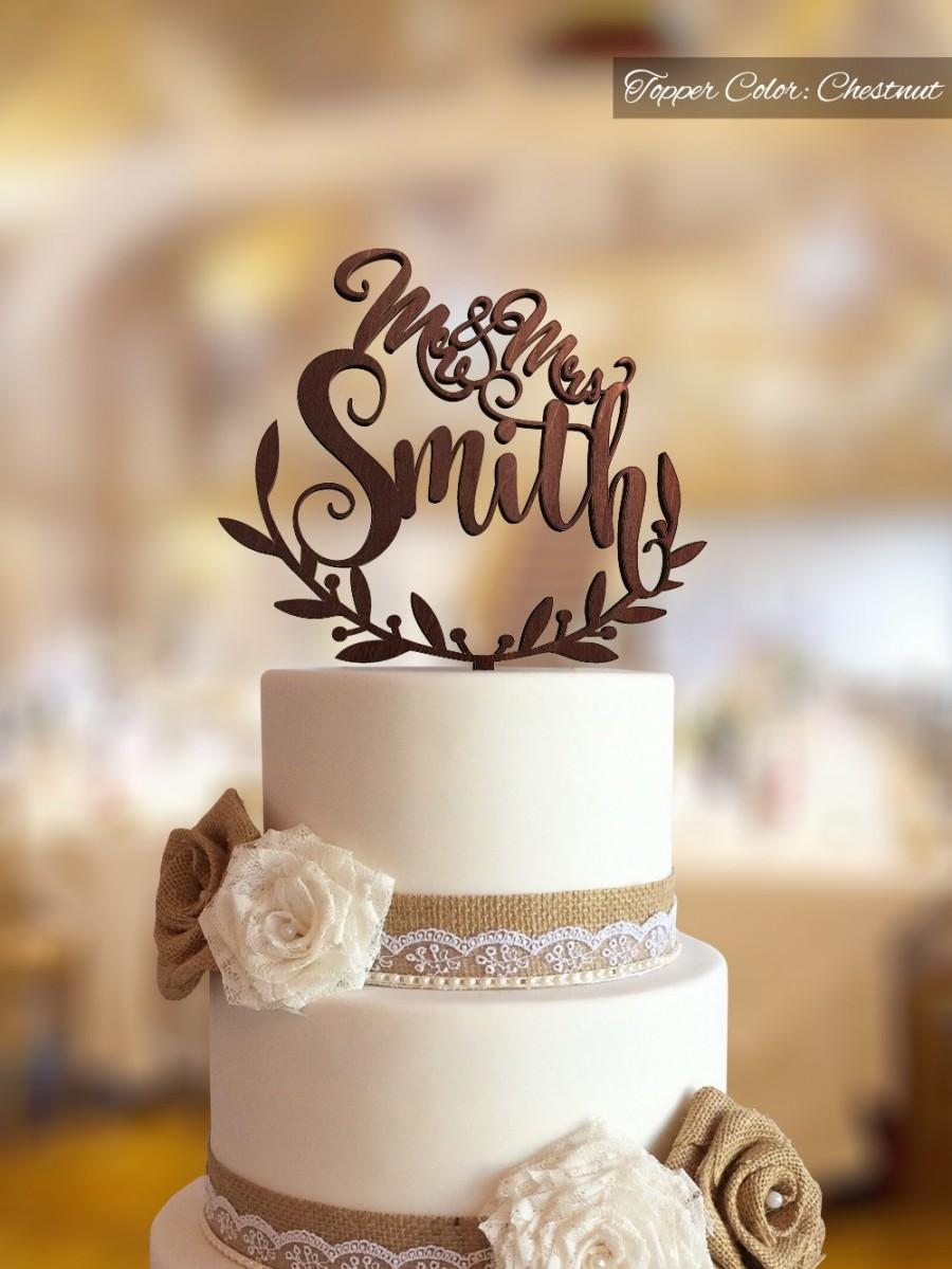 Mr And Mrs Topper Rustic Cake Wedding Custom Decor