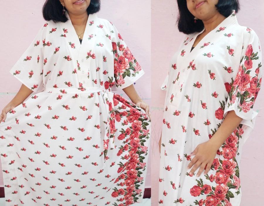 White Maternity Hospital Gown, Nursing Kaftan,maternity Robe ...