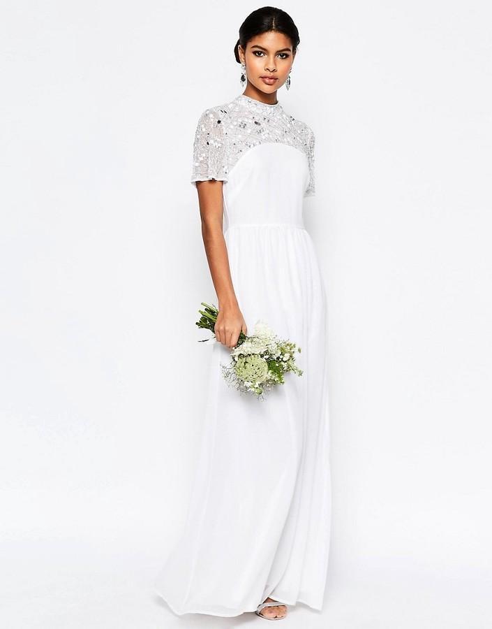 Wedding - ASOS BRIDAL High Neck Embellished Maxi Dress