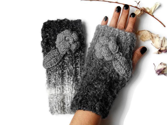 زفاف - Mittens Gloves, Crochet Women Gloves, Hand Knitted Gloves, Knitted Women Gloves, Fingerless Crochet, Women Fingerless, Winter Knitted Gloves