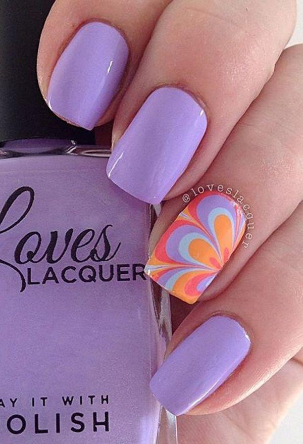 زفاف - Purple Nail Art Ideas