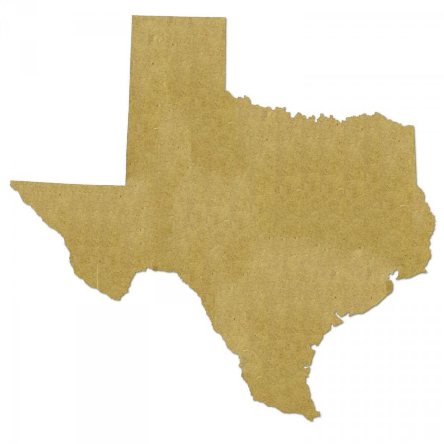 """Mariage - Unfinished Wooden Shapes (TEXAS) - Unpainted -- Perfect for Crafts, DIY, Nursery, Kids Rooms, Weddings – Sizes 2"""" to 46"""""""