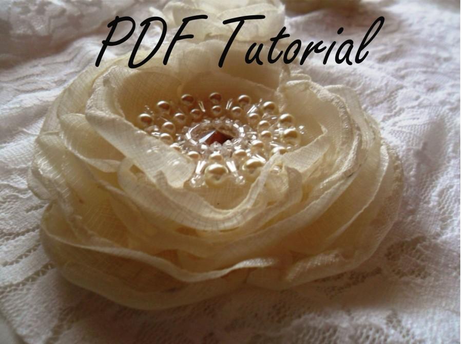 زفاف - Vanessa brooch component Brooch bouquet component Wedding hair pin Bridal belt applique Crystal pearl brooch pattern tutorial