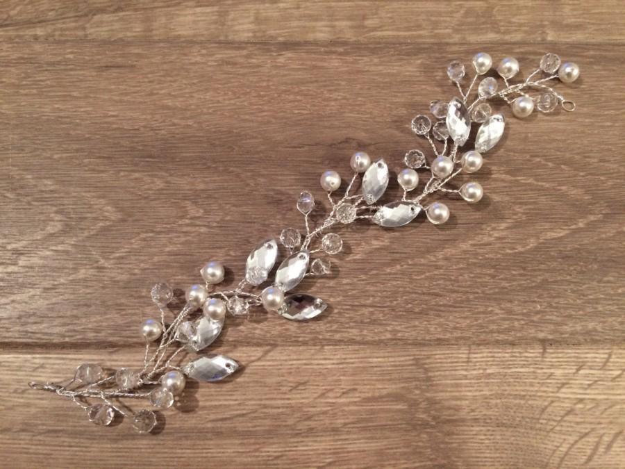 Mariage - Bridal Hair Vine, Bridal Headpiece