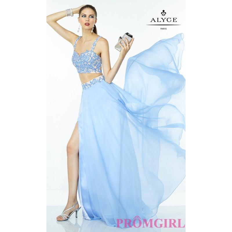 Wedding - Two Piece Long Alyce Prom Dress - Discount Evening Dresses