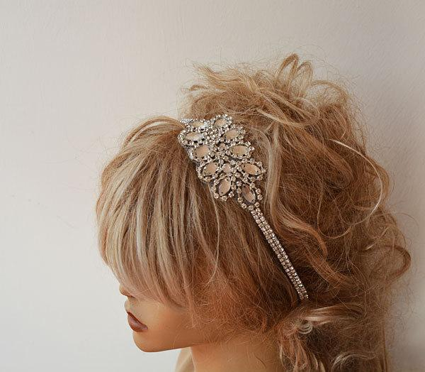Mariage - Headband, Rhinestone Headband, Bridal Headband, Wedding Hair Accessory,  Bridal Hair Accessories