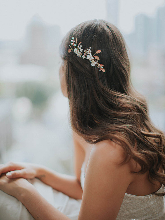 Mariage - Gold Leaf Bridal Hair Comb