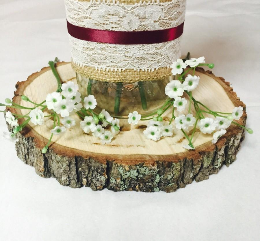 "Mariage - 9"" Set of 15! Tree slices! wedding centerpieces, wood slice decor, arts and crafts, wood rounds, wood slice centerpieces, wood stump."