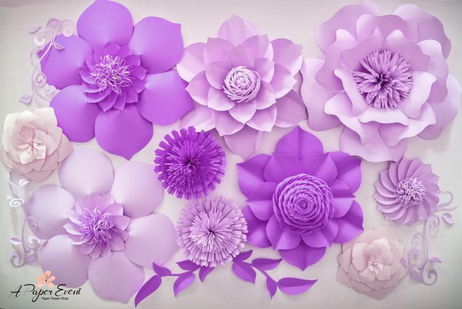 Paper Flower Backdrop Giant Paper Flowers Birthday Decor 2659369