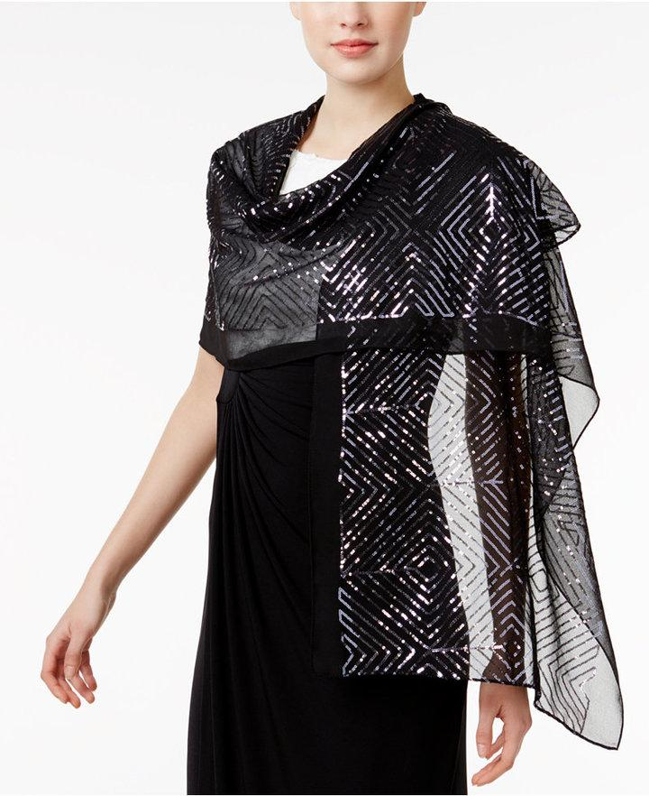 Mariage - INC International Concepts Sequined Squares Evening Wrap