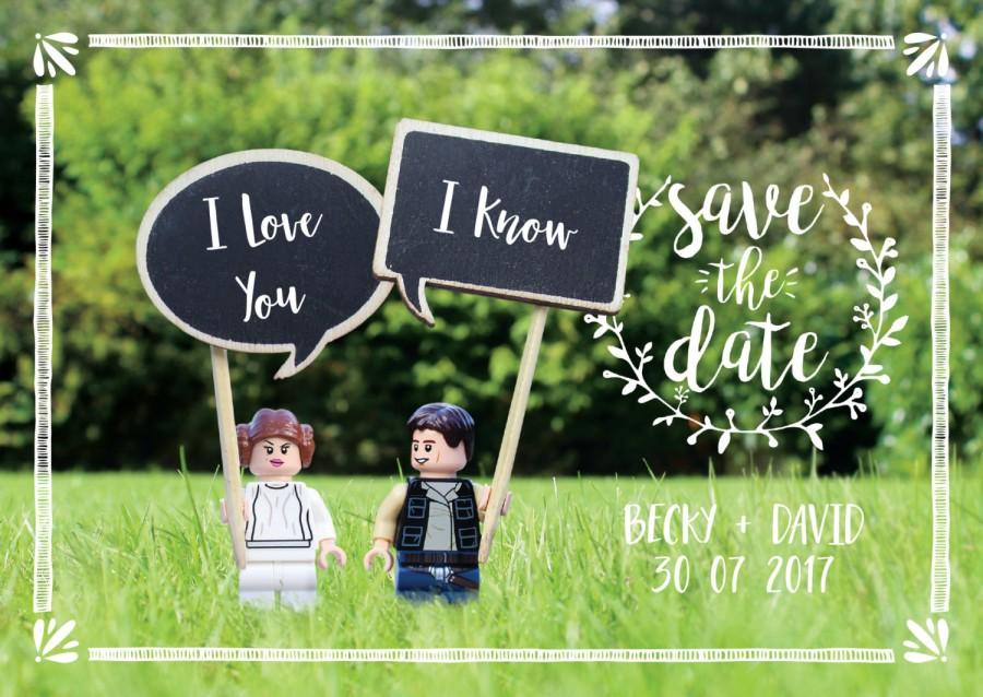 Mariage - I love you - I know, Save the Date.