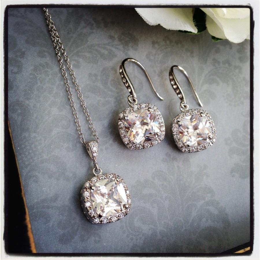 Mariage - Bridal Jewelry Set, Wedding Jewelry Set, Bridal Jewelry, Teardrop Jewelry Set, Mother of the Bride Jewelry, Mother of the Groom Jewelry