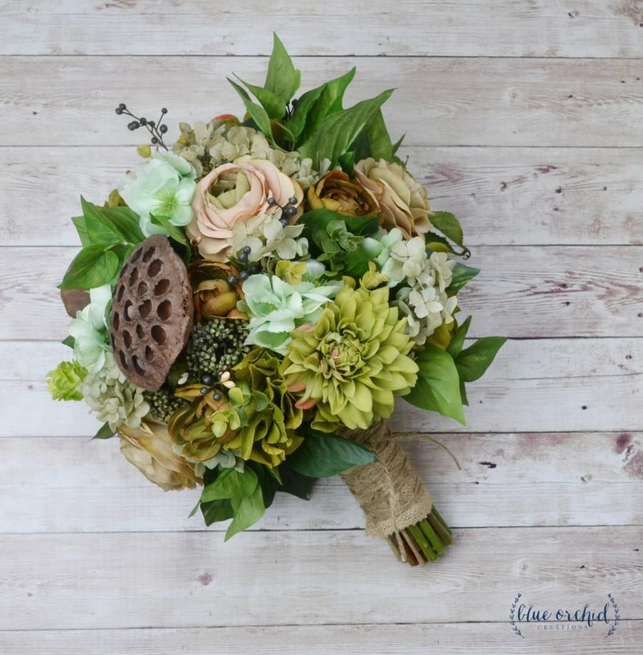 Boho Bouquet Woodland Bouquet Rustic Bouquet Wedding Bouquet