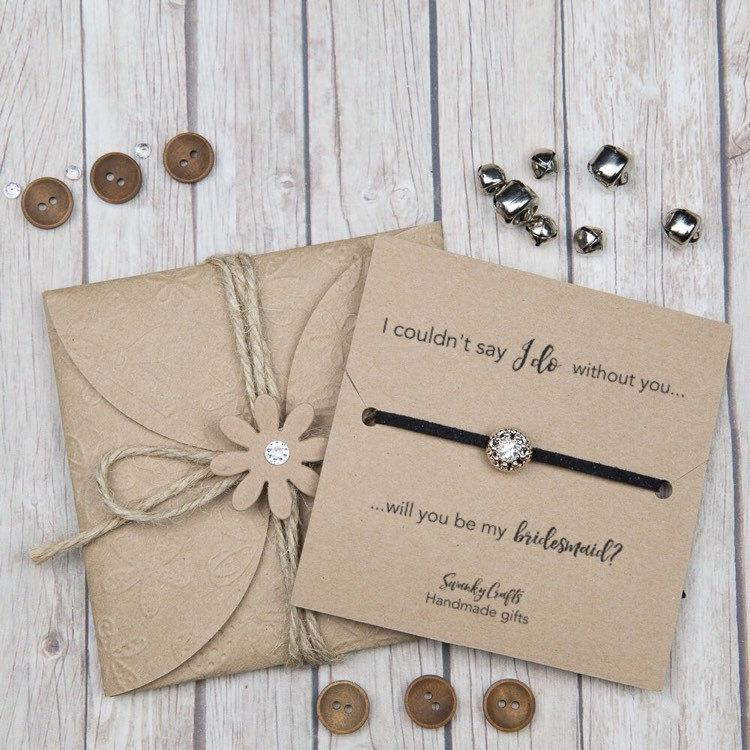 Свадьба - bridesmaid bracelets - will you be my bridesmaid? - bridesmaid gifts - faux suede friendship bracelets - i couldnt say i do without you