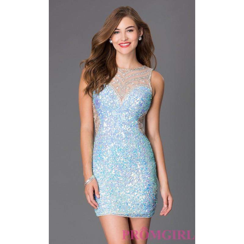 Wedding - Short Illusion Sweetheart Primavera Dress - Discount Evening Dresses