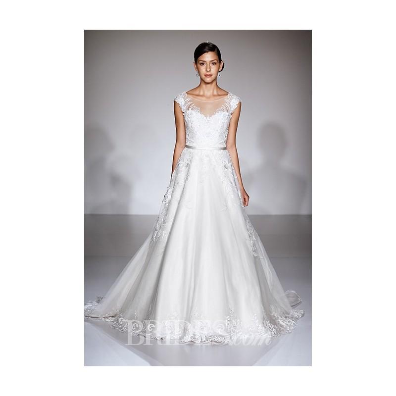 زفاف - Maggie Sottero - Fall 2015 - Bellissima Sleeveless Tulle A-line Illusion Sweetheart Wedding Dress - Stunning Cheap Wedding Dresses