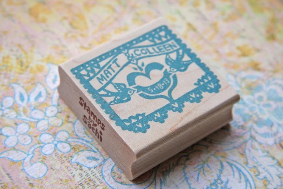 Mariage - Papel Picado Wedding Stamp/ Papel Picado Invitation/ Papel Picado Save the date/ Wedding invitaiton stamp/ Vintagebabydoll design