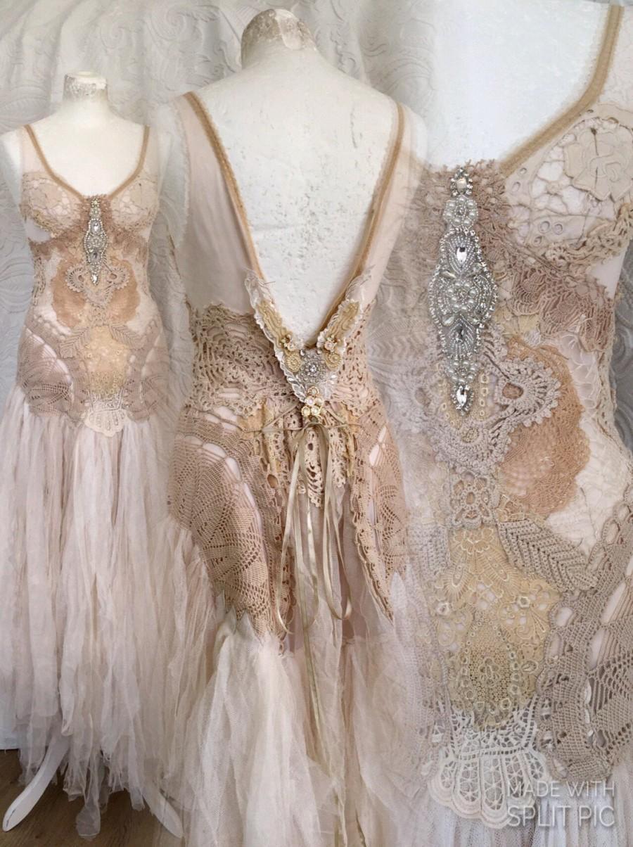 Boho Wedding Dress Crochet , Statement Wedding Dress,boho Bridal ...