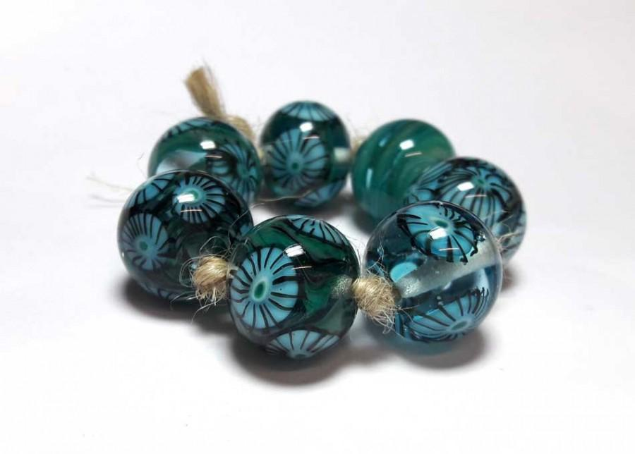 lampwork beads handmade beads supplies jewelry beads for jewelry making set beads beads sra murano beads beads turquoise black aqua