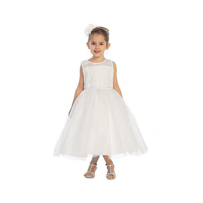 White Rose Lace Bodice W Tulle Skirt Style D5601